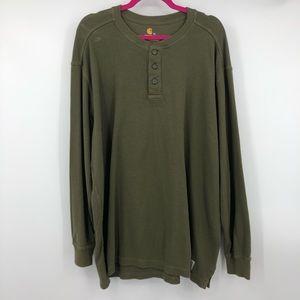 Carhartt Men's Army Green Long Sleeve Thermal XL